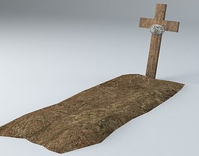 Grave 4 Lowpoly Game Ready 3D model