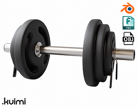 3D model Gym Dumbell 001