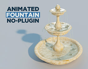 Water fountain with 10 seconds of flowing water 3D model