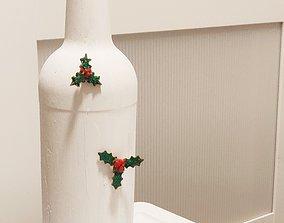 Christmas holly 3d Printable christmas