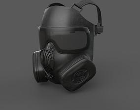 Helmet gas mask 3D asset