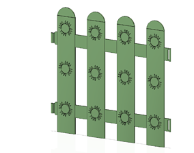 flower Garden picket fencing Tool econom 3d-print and cnc