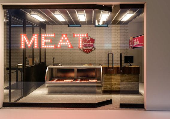 INTERIOR DESIGN OF MEAT SHOP