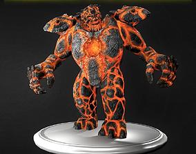 3D asset Fire Golem