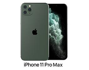 3D Apple iPhone 11 Pro Max Midnight Green
