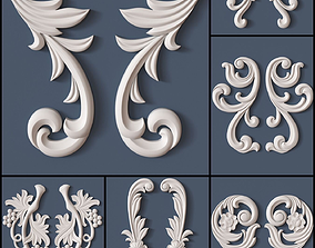 10 Decorative Scrolls Collection 3D