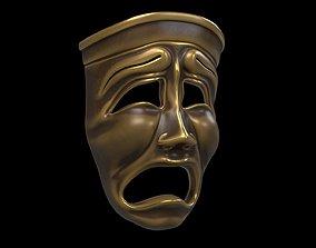 3D model Tragedy mask