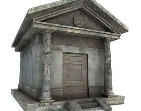 Mausoleum PBR 3D model low-poly