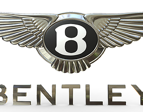 3D model bentley logo auto