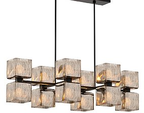 Crate and Barrel Ava Linear Chandelier 3D
