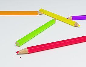 drawing Coloring Pencils 3D model