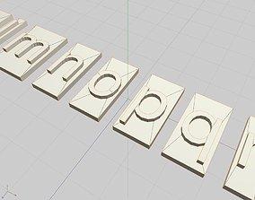 FreeSans Block Typeset Font 3D print model