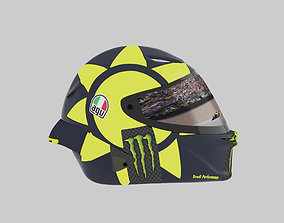 3D asset Helmet racing motogp yamaha