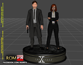 The X Files - Mulder and Scully Printables Figures