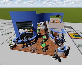 3D asset Exhibition STAND model
