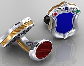 original Cufflinks with enamel and diamonds 3D print model