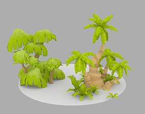 3D model Cartoon Oasis Plants