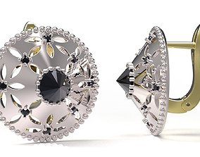 3D printable model emerald Earrings