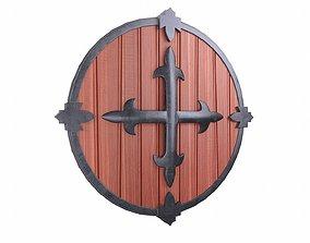 3D asset Shield Red