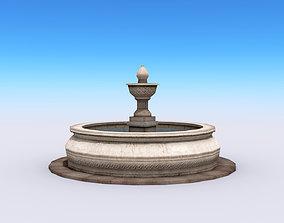 City Fountain 3D asset realtime