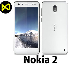 3D model Nokia 2 White