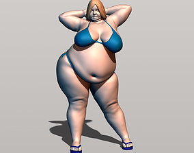 Bbw on the beach 3D print model