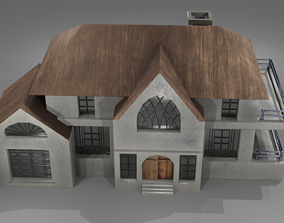 low-poly PBR House 3D Model