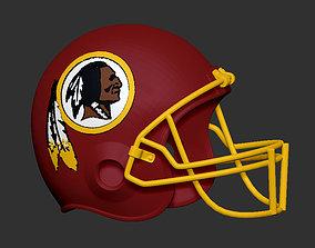 Washington Redskins NFL Football Helmet 3D print model