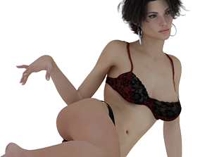 3D model Seductive girl bra