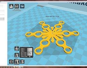 Snowflake house 3D print model