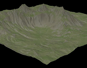 3D model VR Ready Mountain