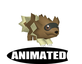 Zigzagoon Animated Pokemon 3D model