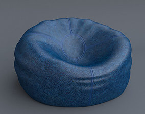 Leather Bean Bag 3D model