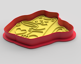 3D printable model Cookie cutter and stamp - Cat and cup