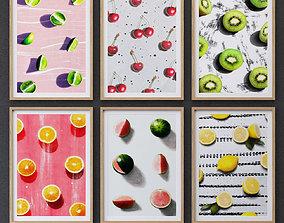 Fruit collection framed set-01 for kitchen 3D