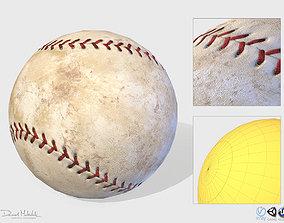 3D Old Baseball PBR