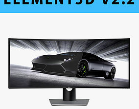 E3D - Dell UltraSharp 38 Curved Monitor U3818DW 3D model