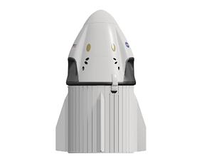 3D model SpaceX Dragon 2 - Crew Dragon - 2020