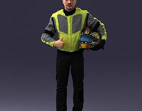 Moto racer in pose 0013 3D model
