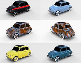 Fiat 500 Pack 3D model