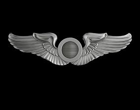 3D model USAAF Aircraft Observer Wings Badge