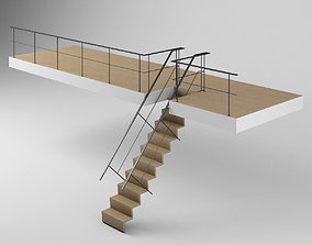 3D model Stair - Loft Stairs and Railing