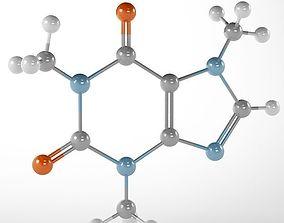 3D model Molecule Caffeine