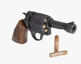 Stylized Revolver Pistol 3D asset