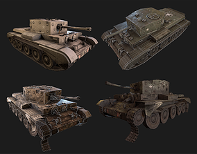 Cromwell PBR Unity Game Ready tank model game-ready