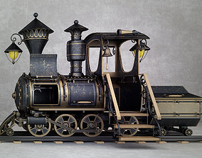 locomotive 3D animated steam train