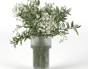 3D bouquet Bouquet of hydrangea and olive branch