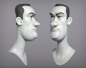 Cartoon male character Dave base mesh 3D