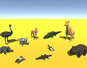 3D model Low Poly Australian Animals