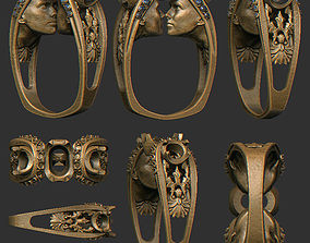 3D print model The ring two heads